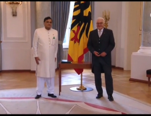 Ambassador presents credentials to the President of Germany